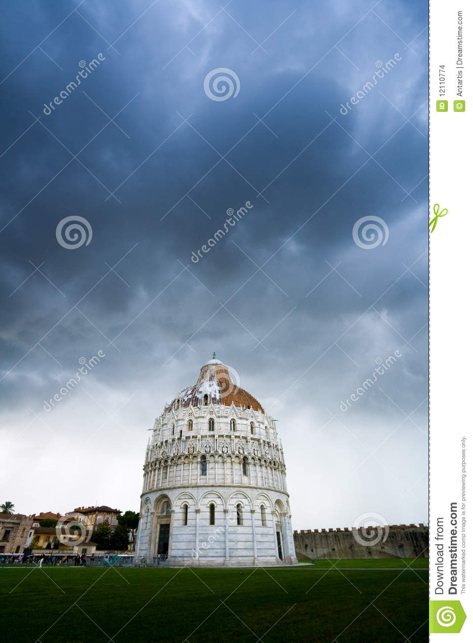 The Baptistery of the Cathedral in Pisa