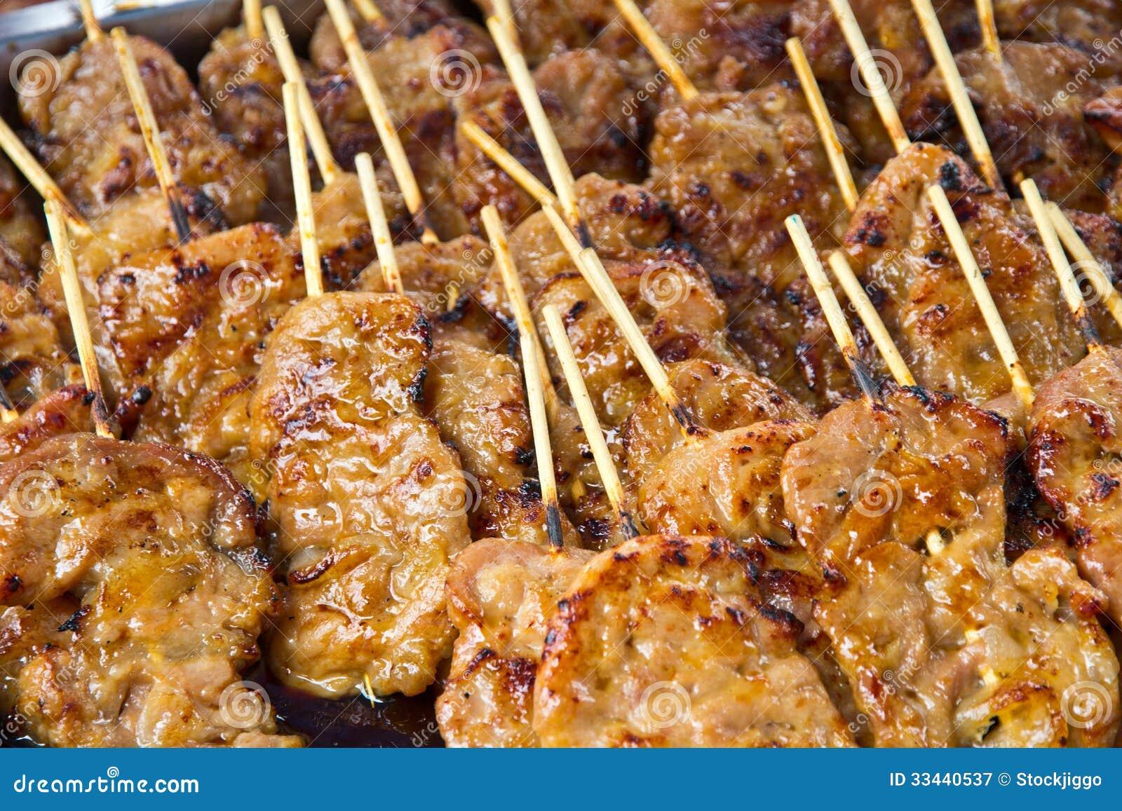 Bar b q pork thailand style fast food stock image image for Food for bar b q