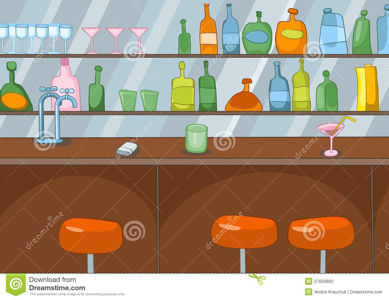 Bar Cartoon Stock Photography Image 27693692