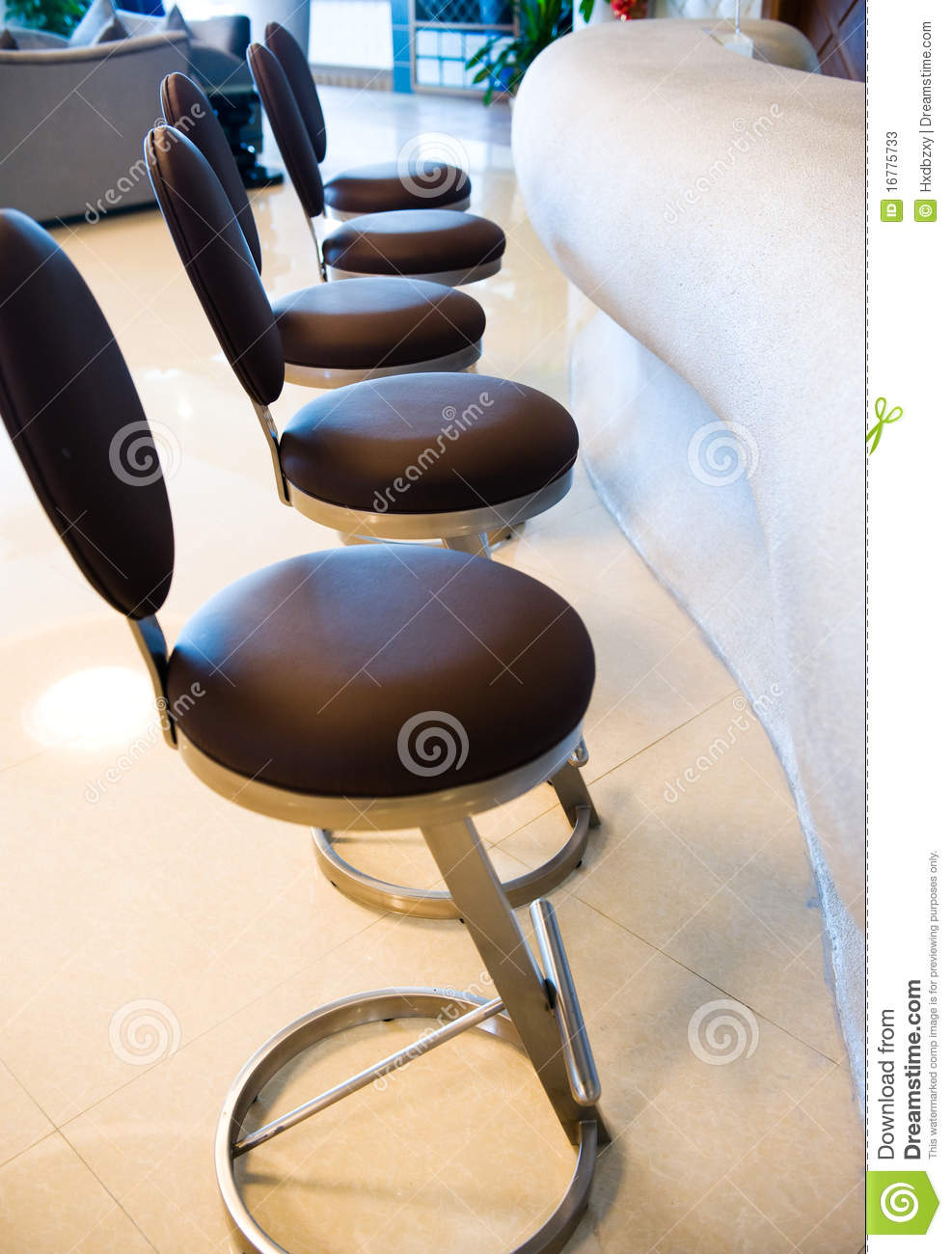 Barstools Line Royalty Free Stock Photo Cartoondealer