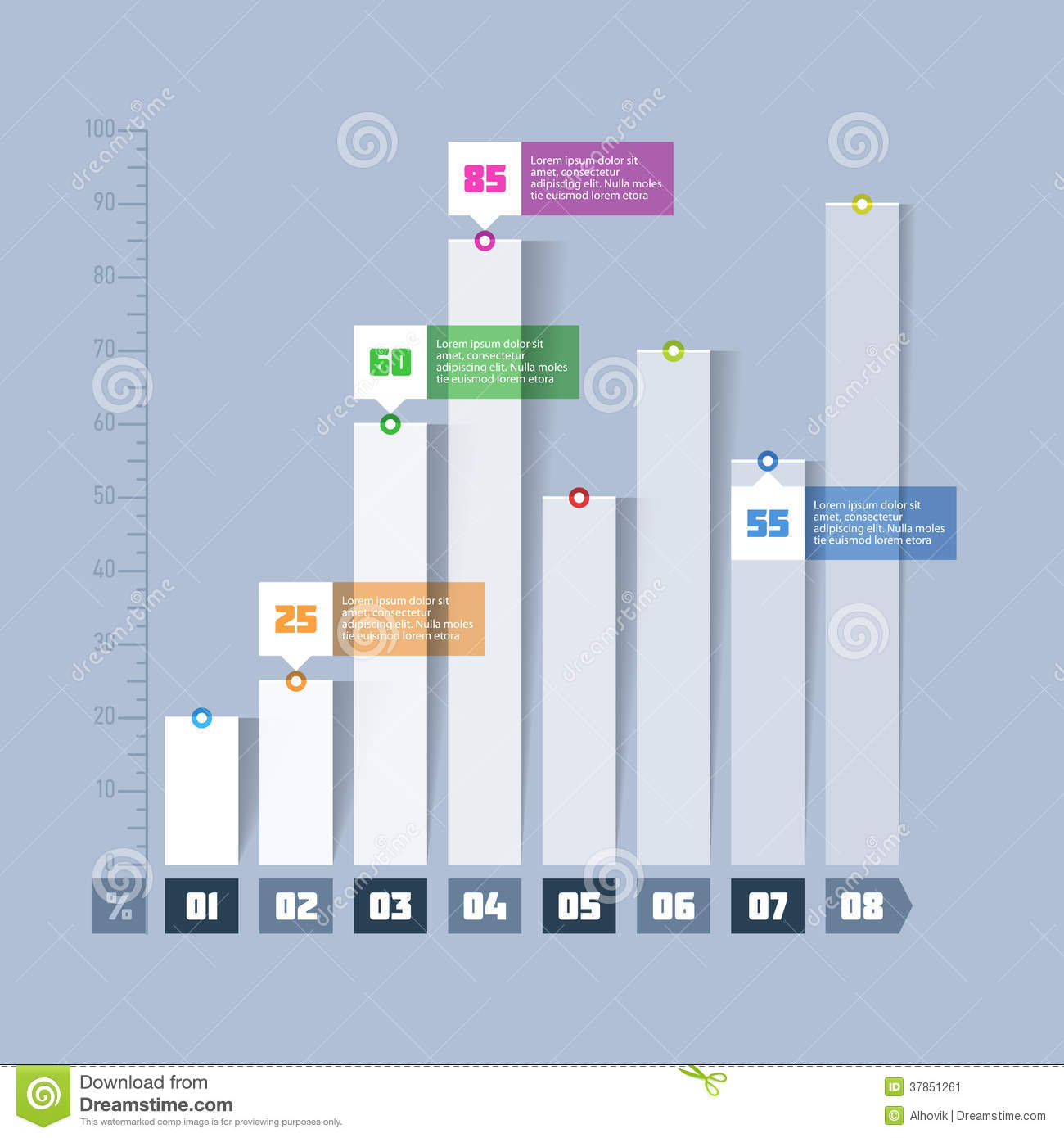 More similar stock images of ` Bar chart, graph infographics element `
