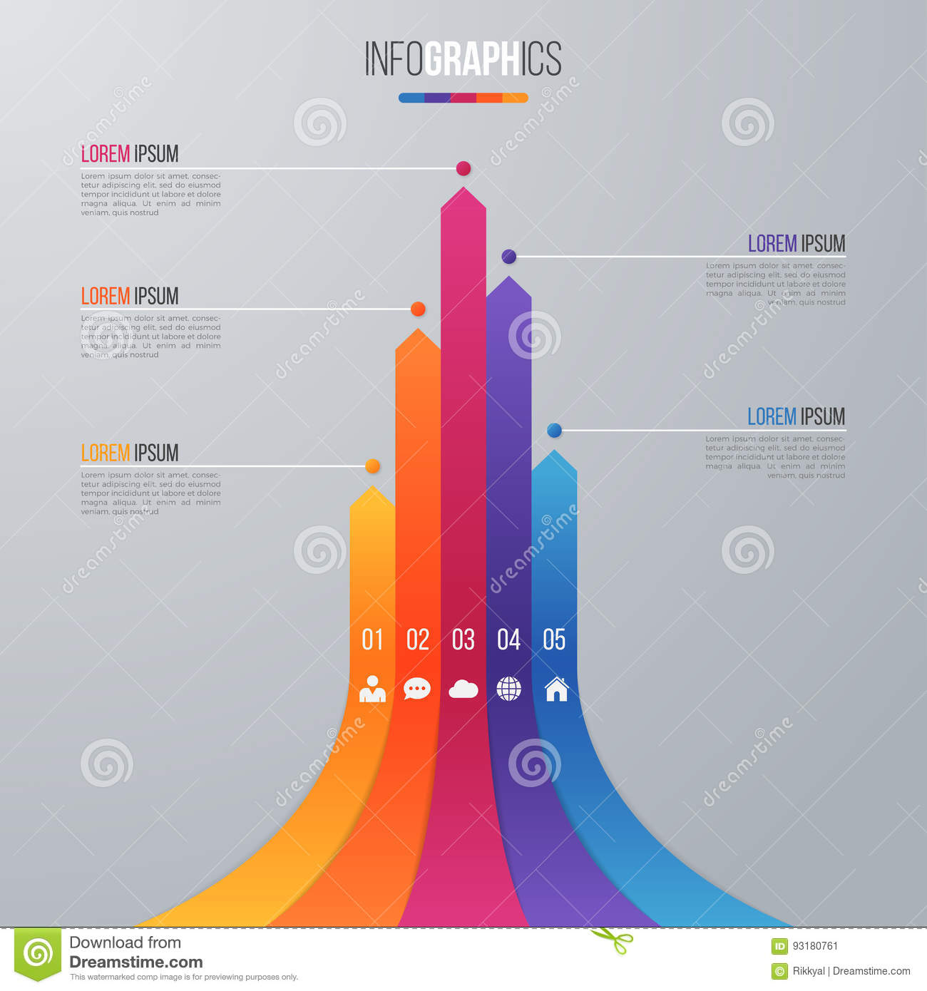 Bar Chart Infographic Template For Data Visualization With 5 Opt ...