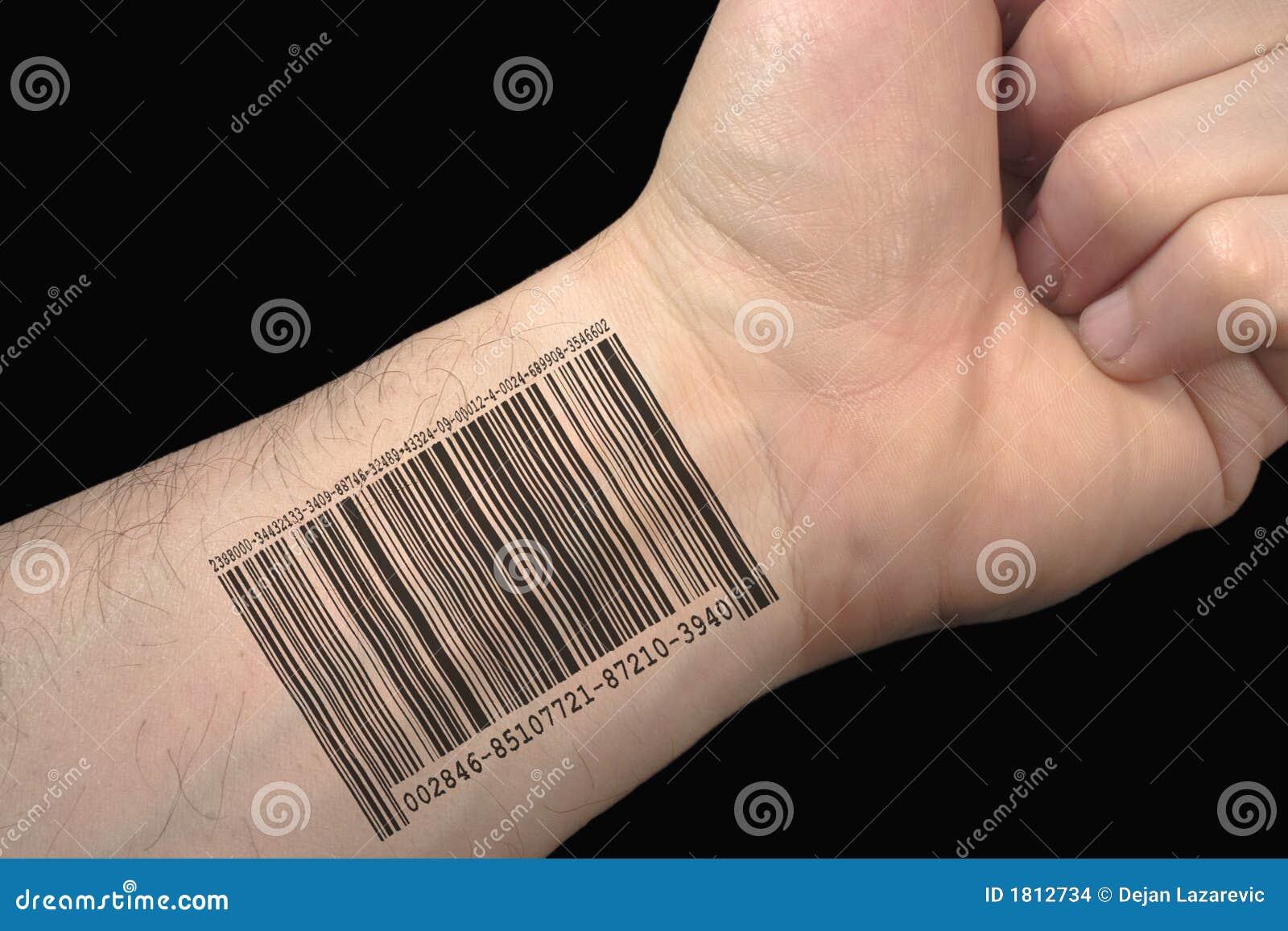 bar code tattoo stock images image 1812734. Black Bedroom Furniture Sets. Home Design Ideas