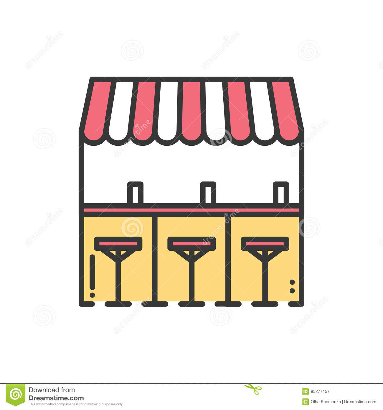 Icon Food And Drink Vector Cartoon Vector Cartoondealer