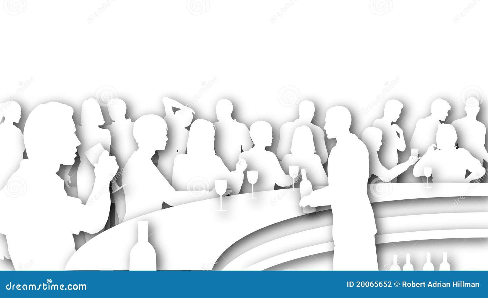 bar cutout stock illustration illustration of cafe evening 20065652