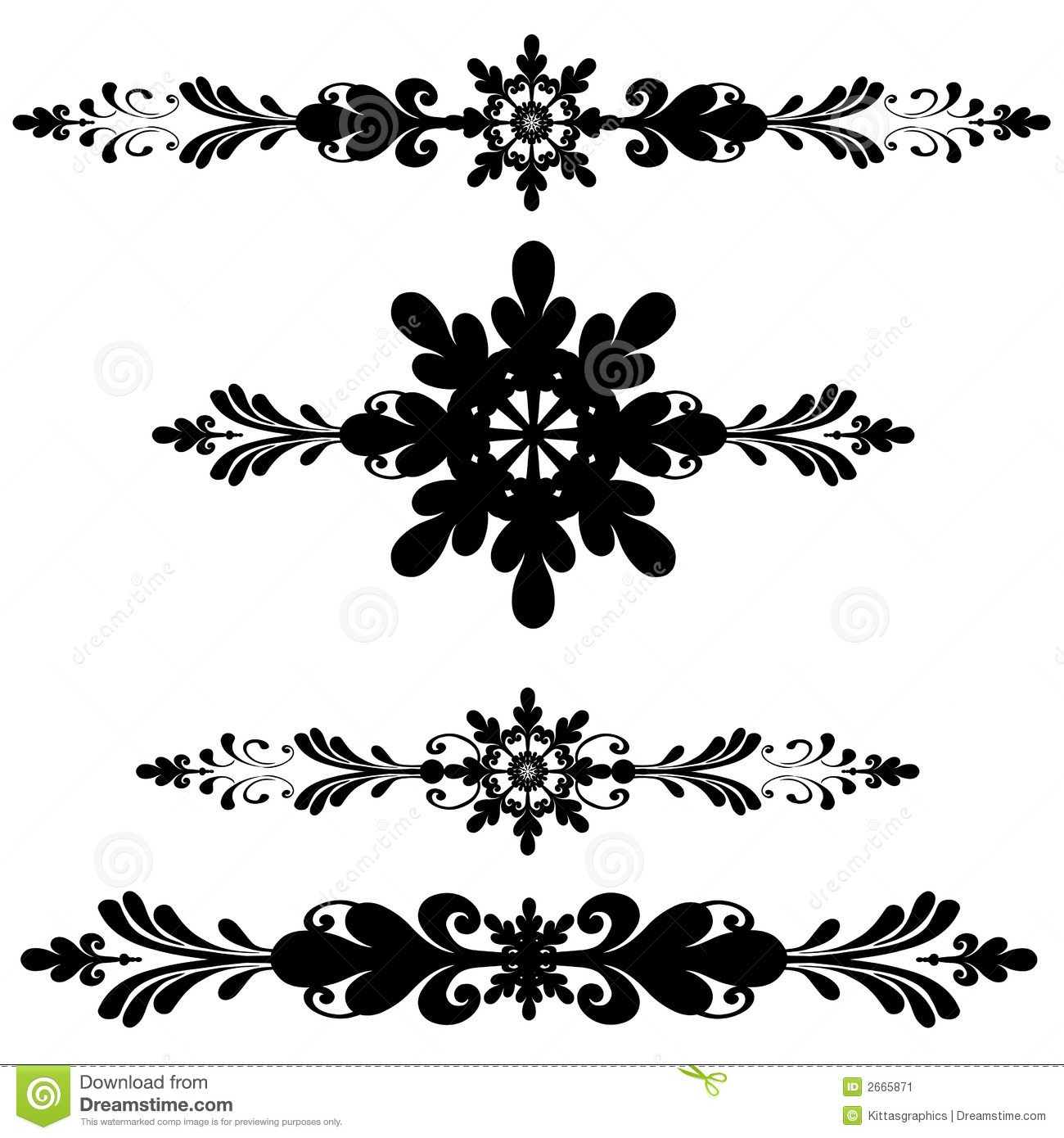 Bar decoration ornamental line stock vector image 2665871 for Decoration on line