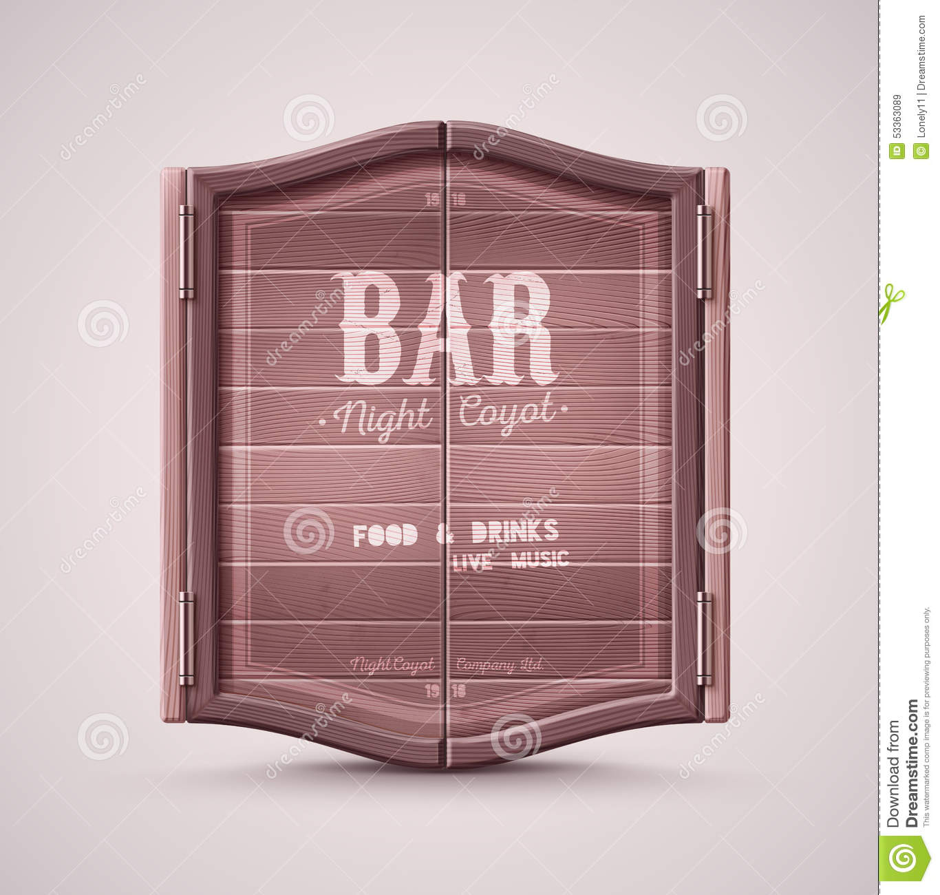 Bar Doors Stock Photo - Image: 53363089