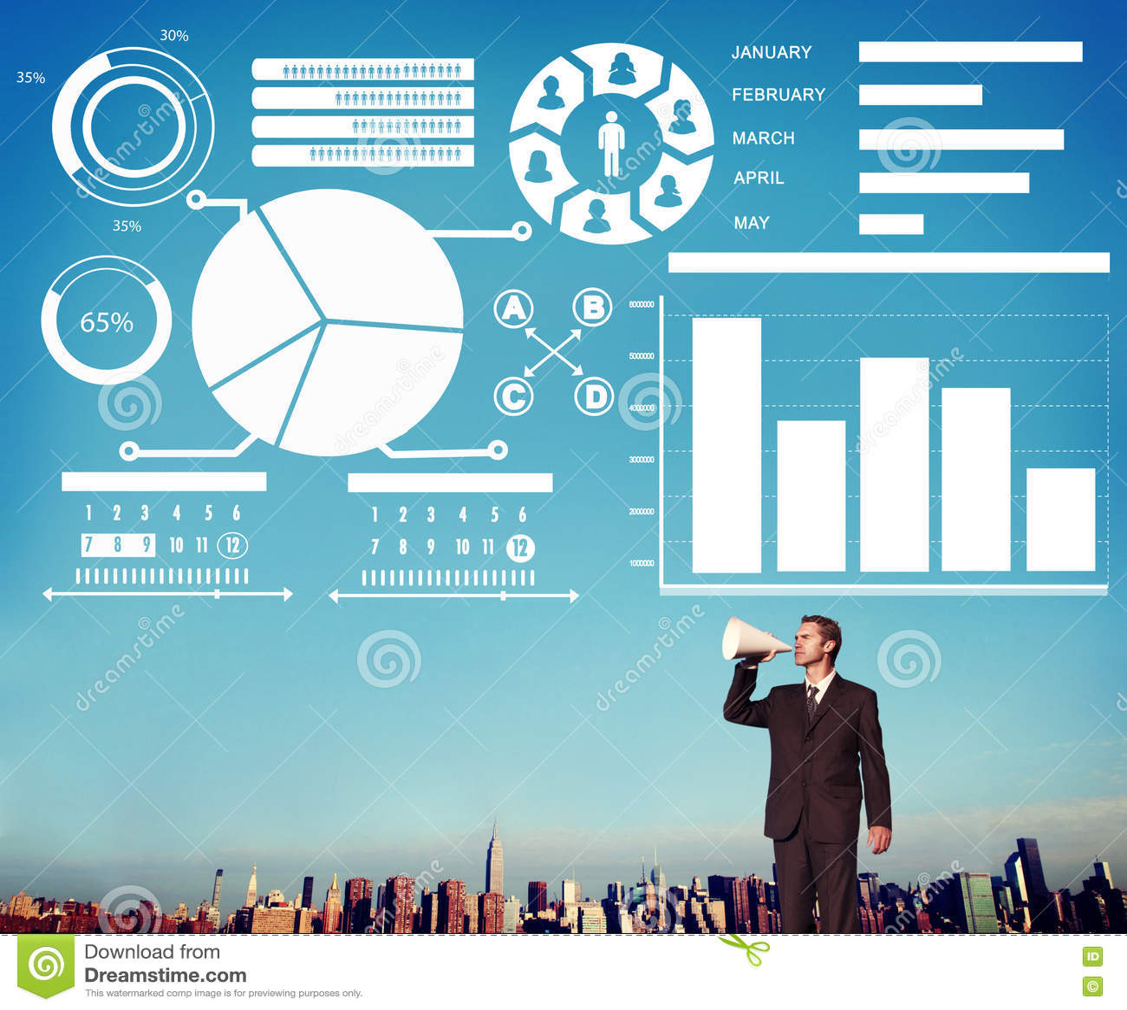 Bar Graph Chart Data Information Inforgraphic Report ...