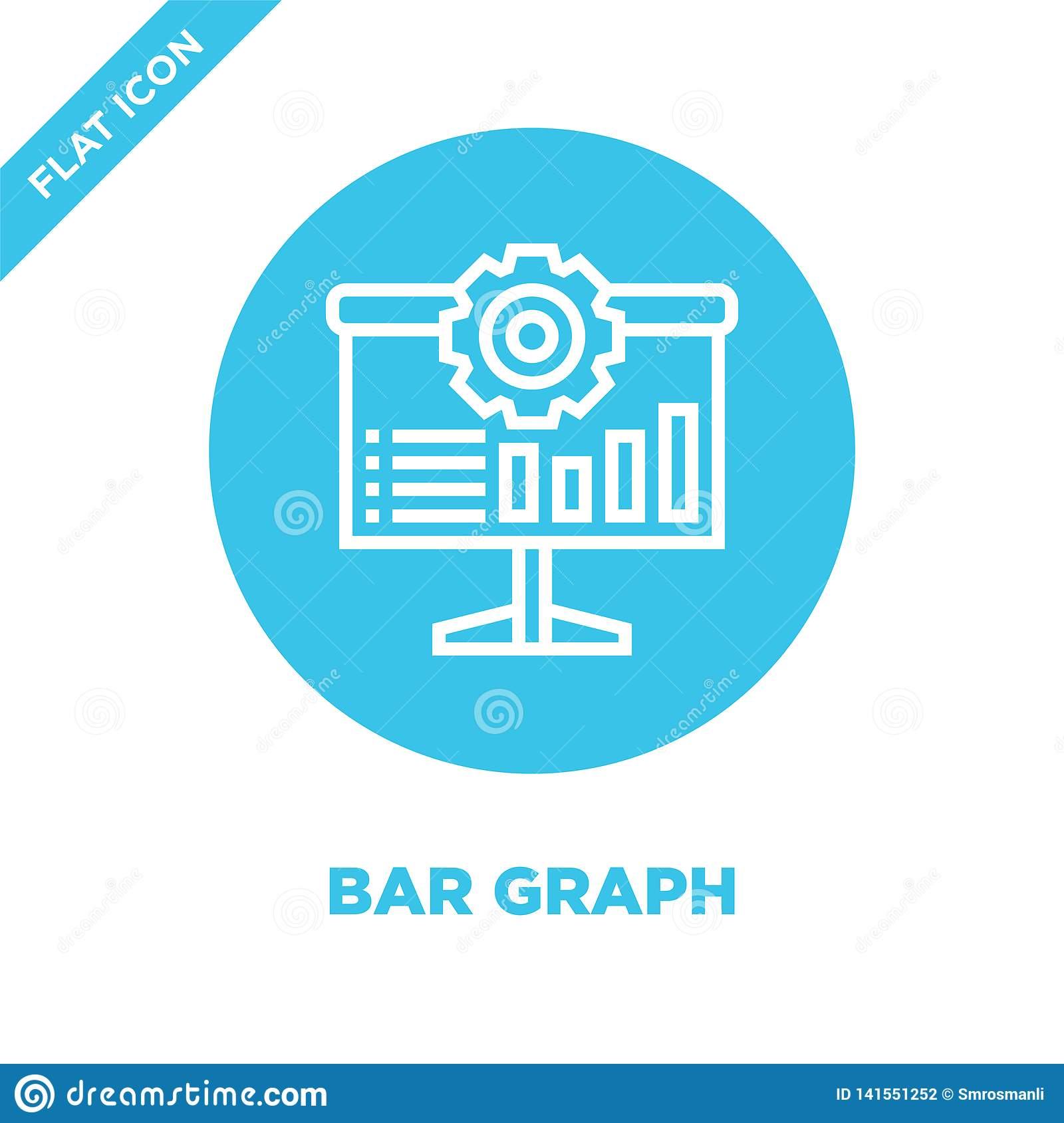 bar graph icon vector. Thin line bar graph outline icon vector illustration.bar graph symbol for use on web and mobile apps, logo