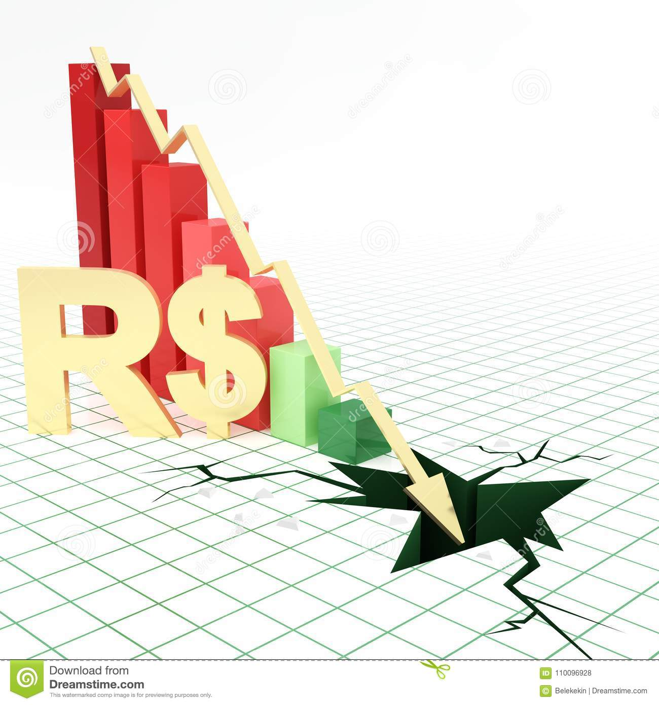 Real currency symbol bar graph going down stock illustration real currency symbol bar graph going down biocorpaavc Image collections