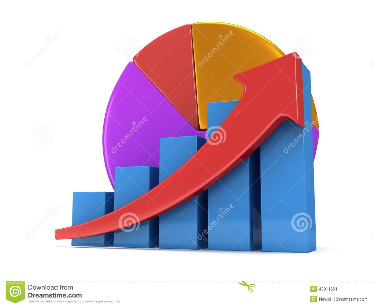 Bar graph with red arrow and pie chart stock illustration bar graph with red arrow and pie chart calculation graphic nvjuhfo Choice Image