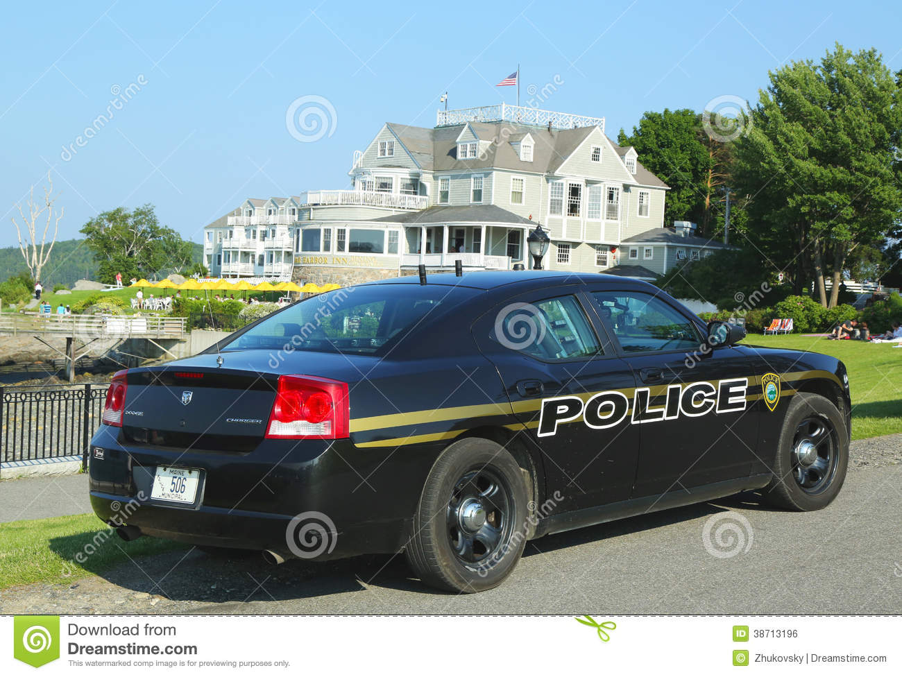 Bar Harbor Police Department Car In Maine Editorial Photo ...