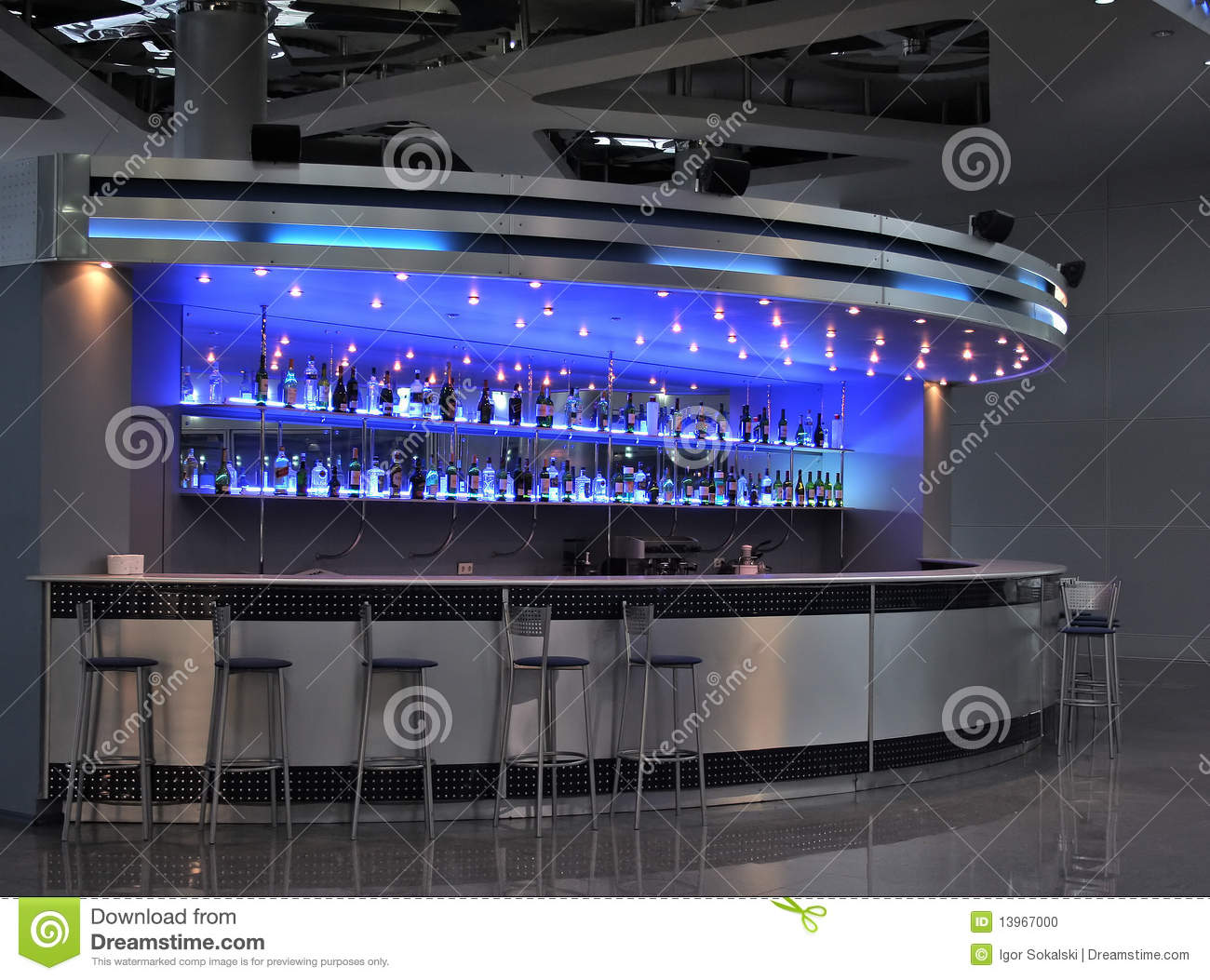 Bar int rieur photo stock image 13967000 for Bar interieur