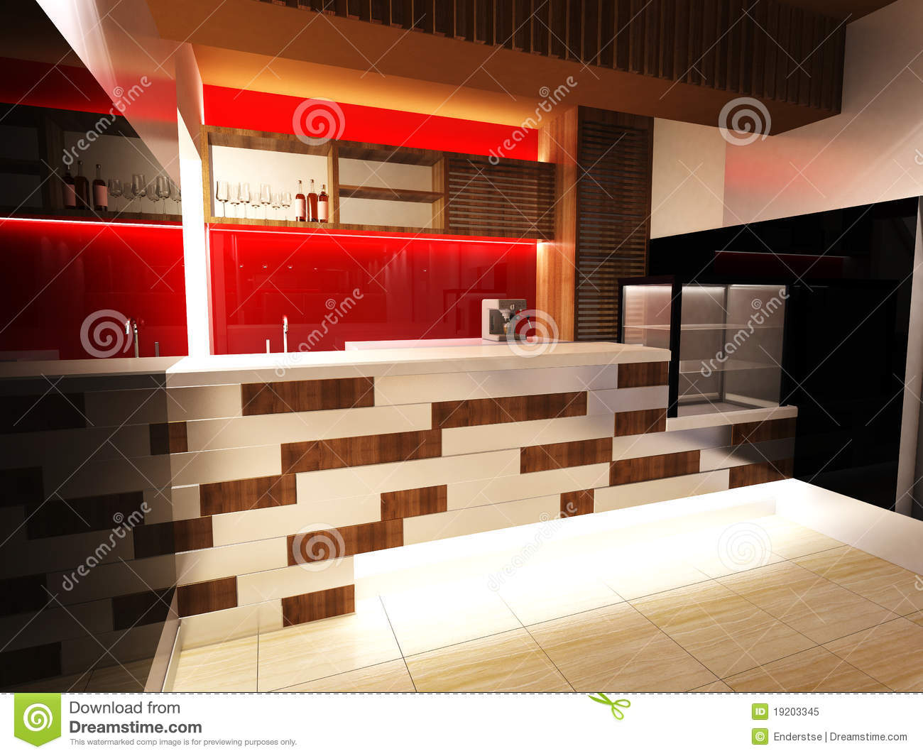 Royalty Free Stock Photo Bar Design Interior