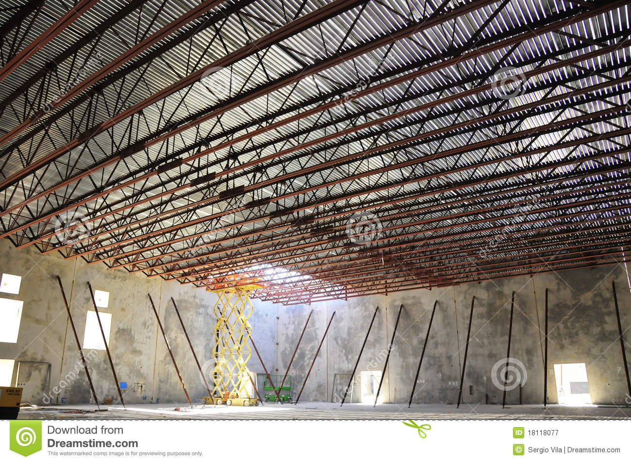 Bar Joist Roof Stock Image Image Of Deck Wide Warehouse