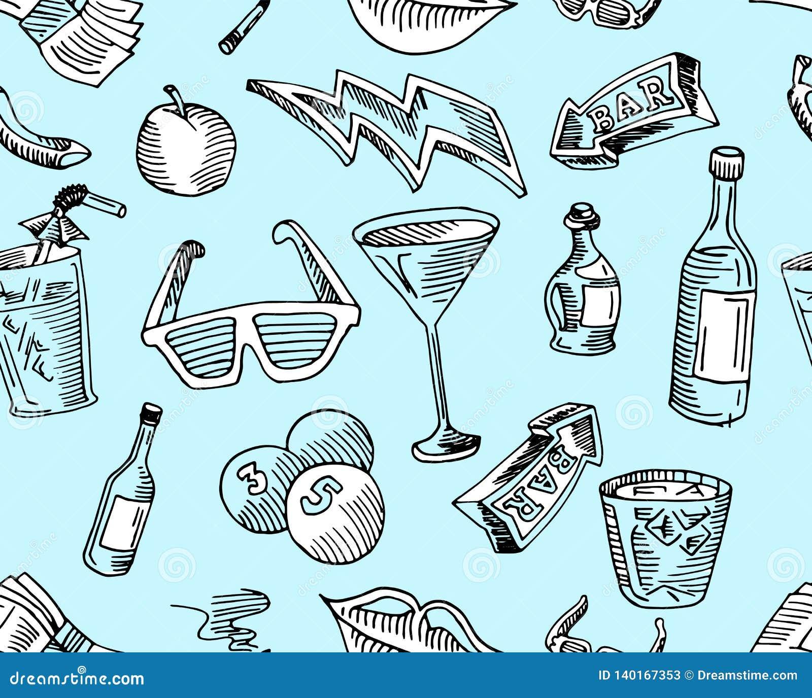 Bar, kawa, napój i strzała w arte wzorze wewnątrz,