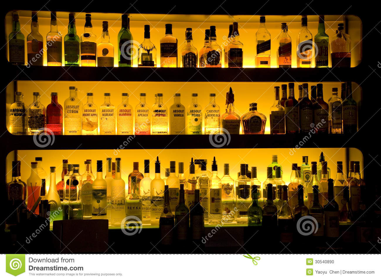 Bar Liquor Wine Drinks Decoration Editorial Image Image