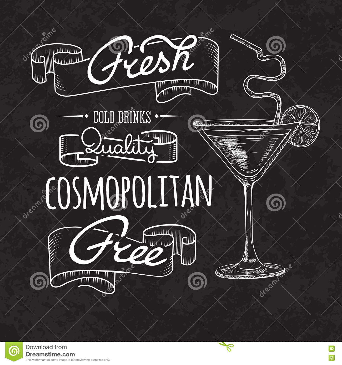 Bar Menu Of Cocktail Proposal Cartoon Vector
