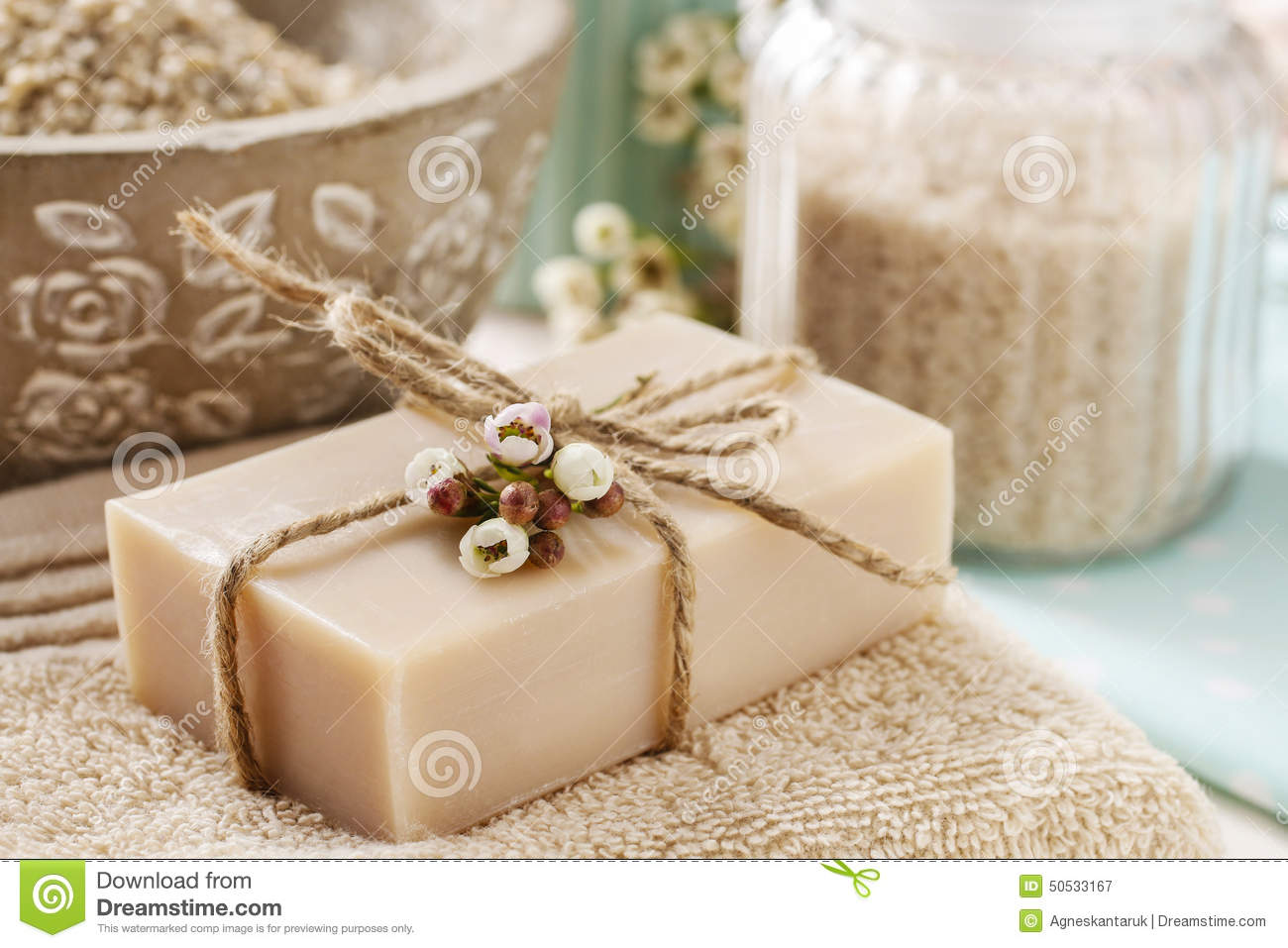 Bar Of Natural Handmade Soap Stock Photo Image 50533167