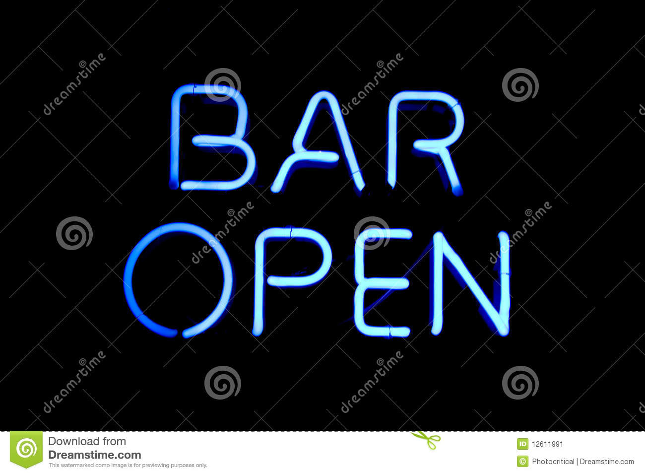 Bar Open Neon Sign Stock Image - Image: 12611991