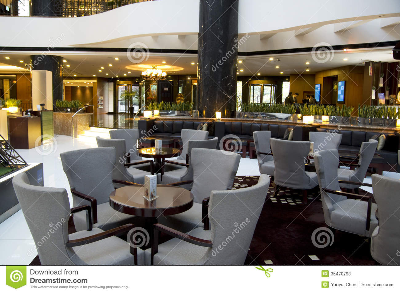 Bar Restaurant Hotel Lobby Editorial Stock Photo