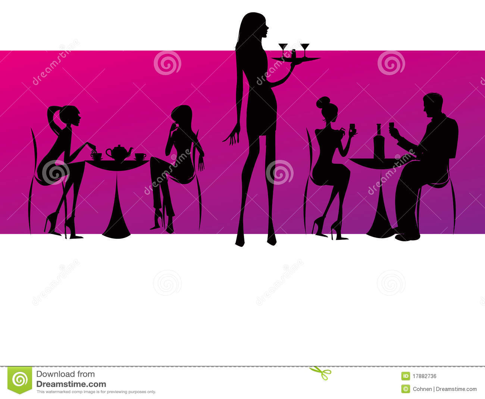Bar restaurant lounge coffee women Illustration