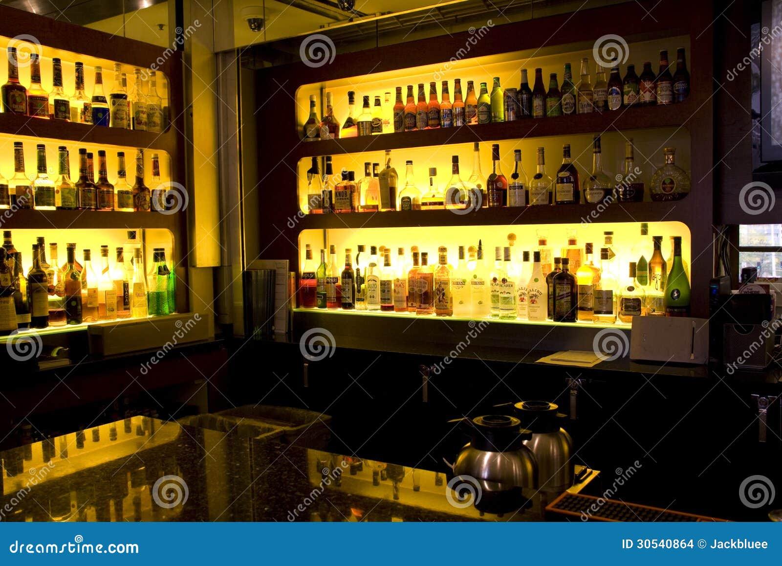 Bar restaurant with nice interiors editorial stock image