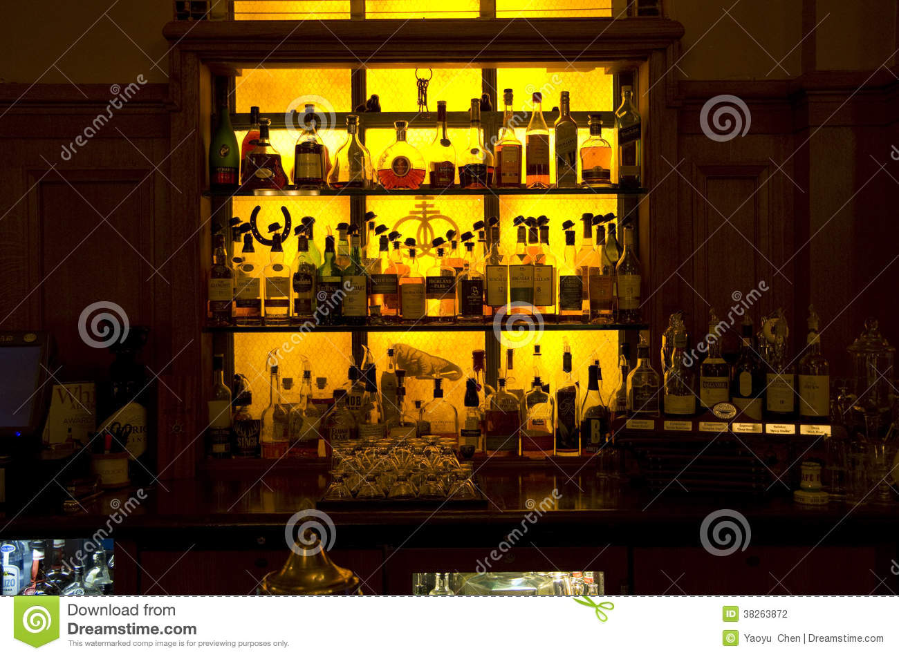 Bar shelves editorial image image of beer alcohol carlsberg bar shelves in vintage hotel stock photography mozeypictures Gallery