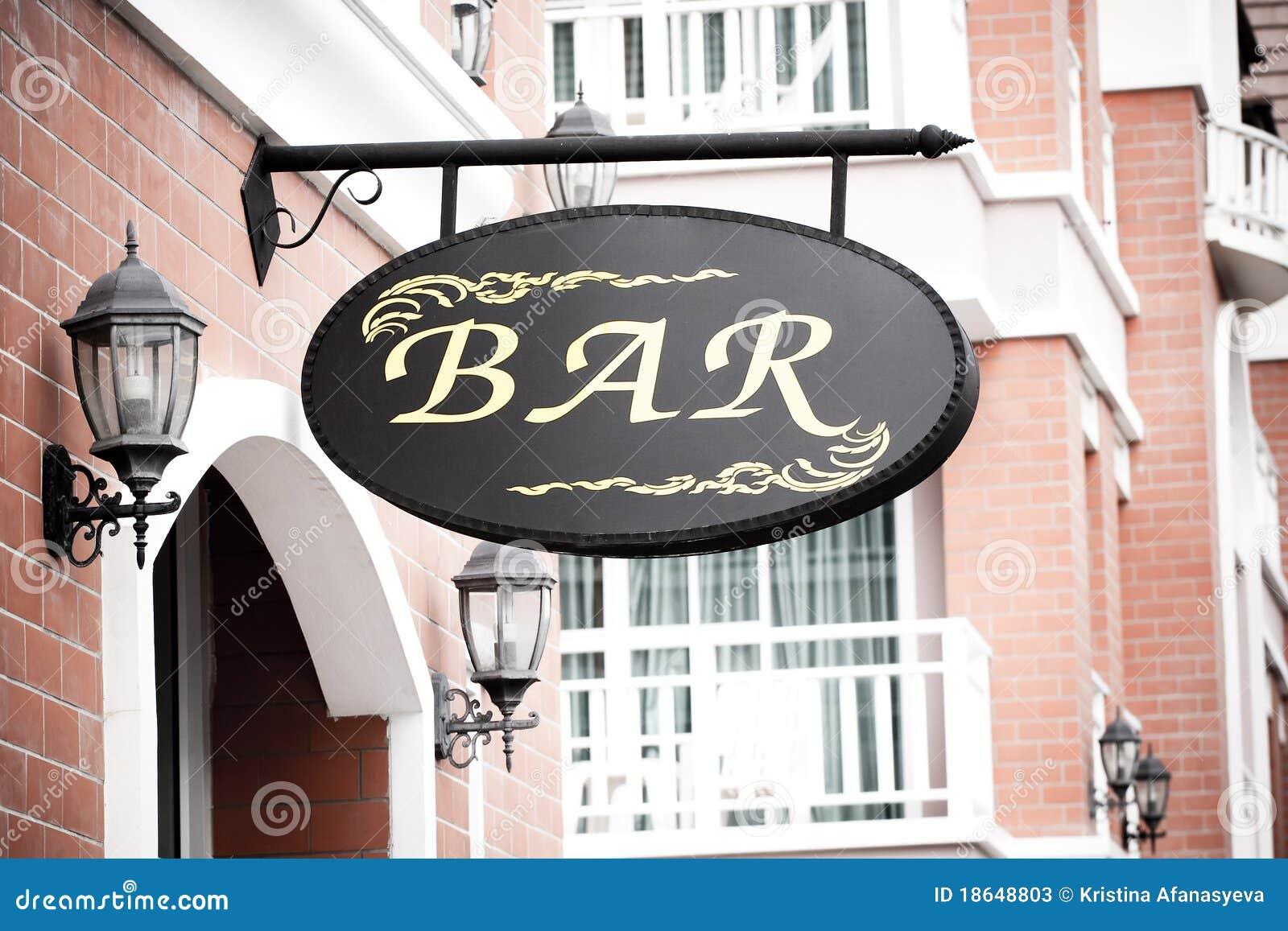 Download Bar sign stock image. Image of advert, booze, grunge - 18648803