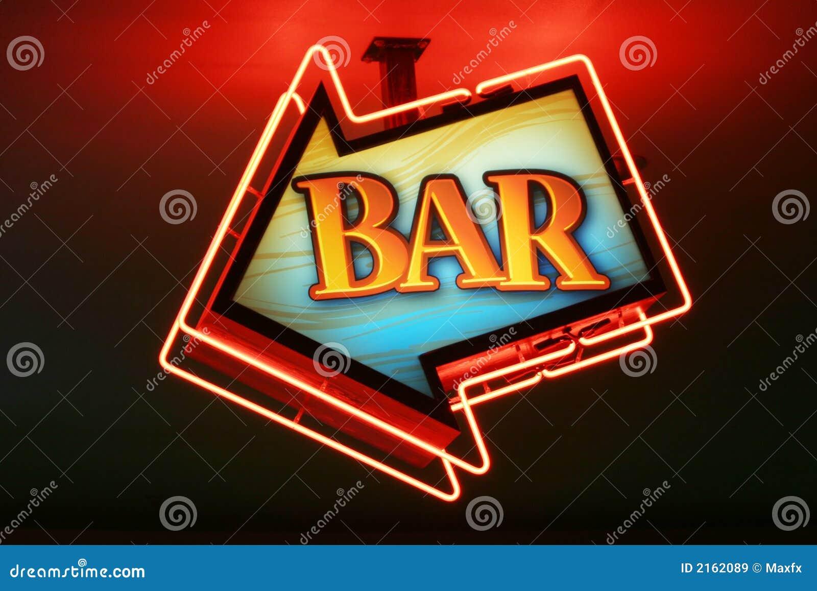 Download Bar sign stock image. Image of wine, nightlife, neon, beverage - 2162089
