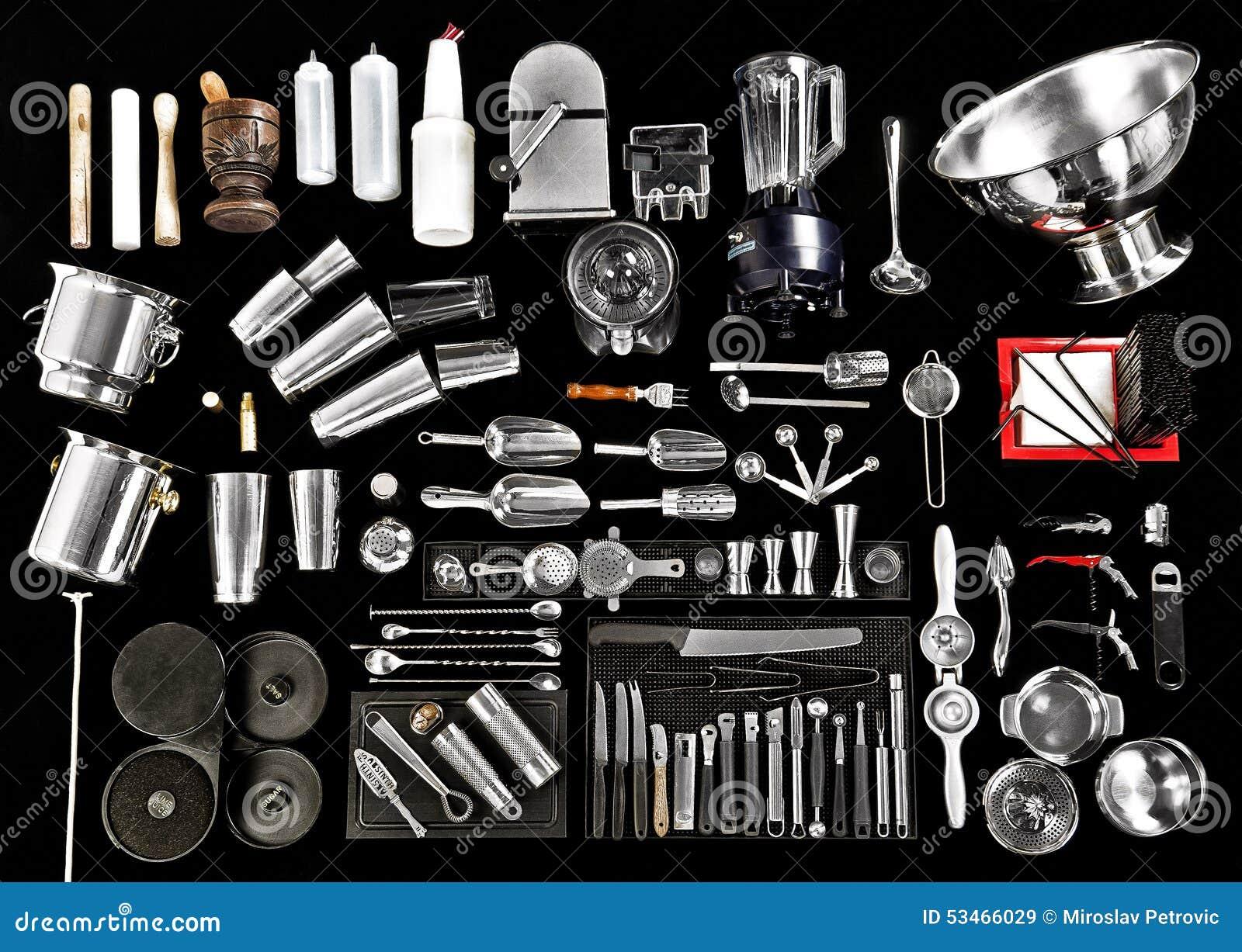 Bar Tender Equipment Stock Image Image Of Tongs