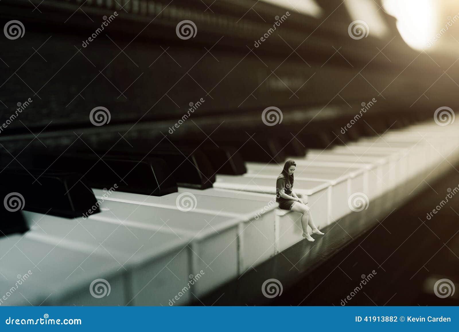 Bara på pianot