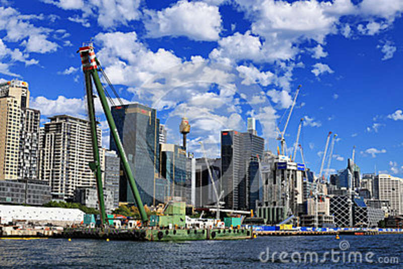 Barangaroo Construction Editorial Stock Image Image Of