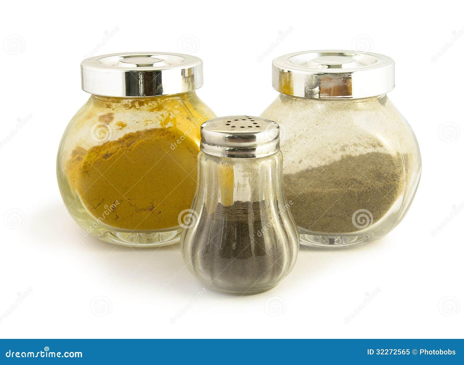 Barattoli di vetro per le spezie immagine stock immagine 32272565 - Barattoli vetro ikea ...