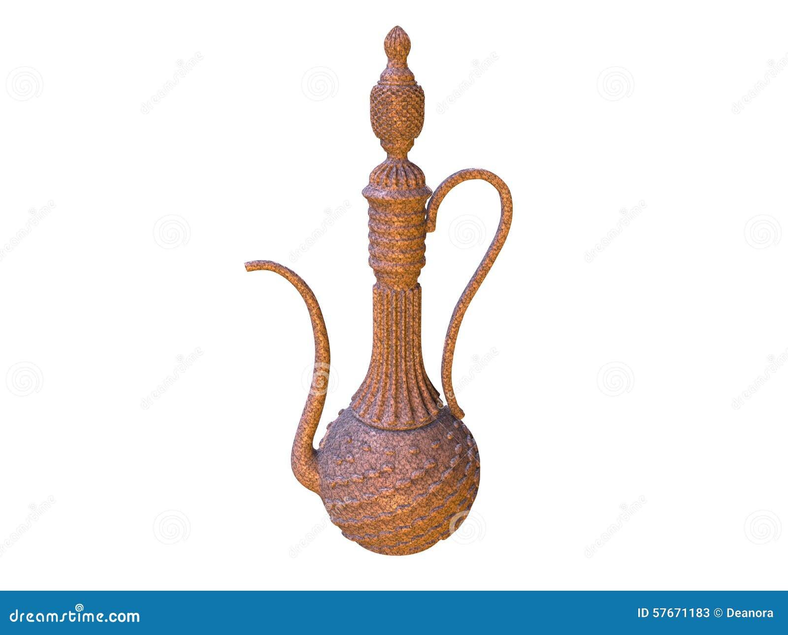 Barattolo decorativo elegante nello stile di oriente