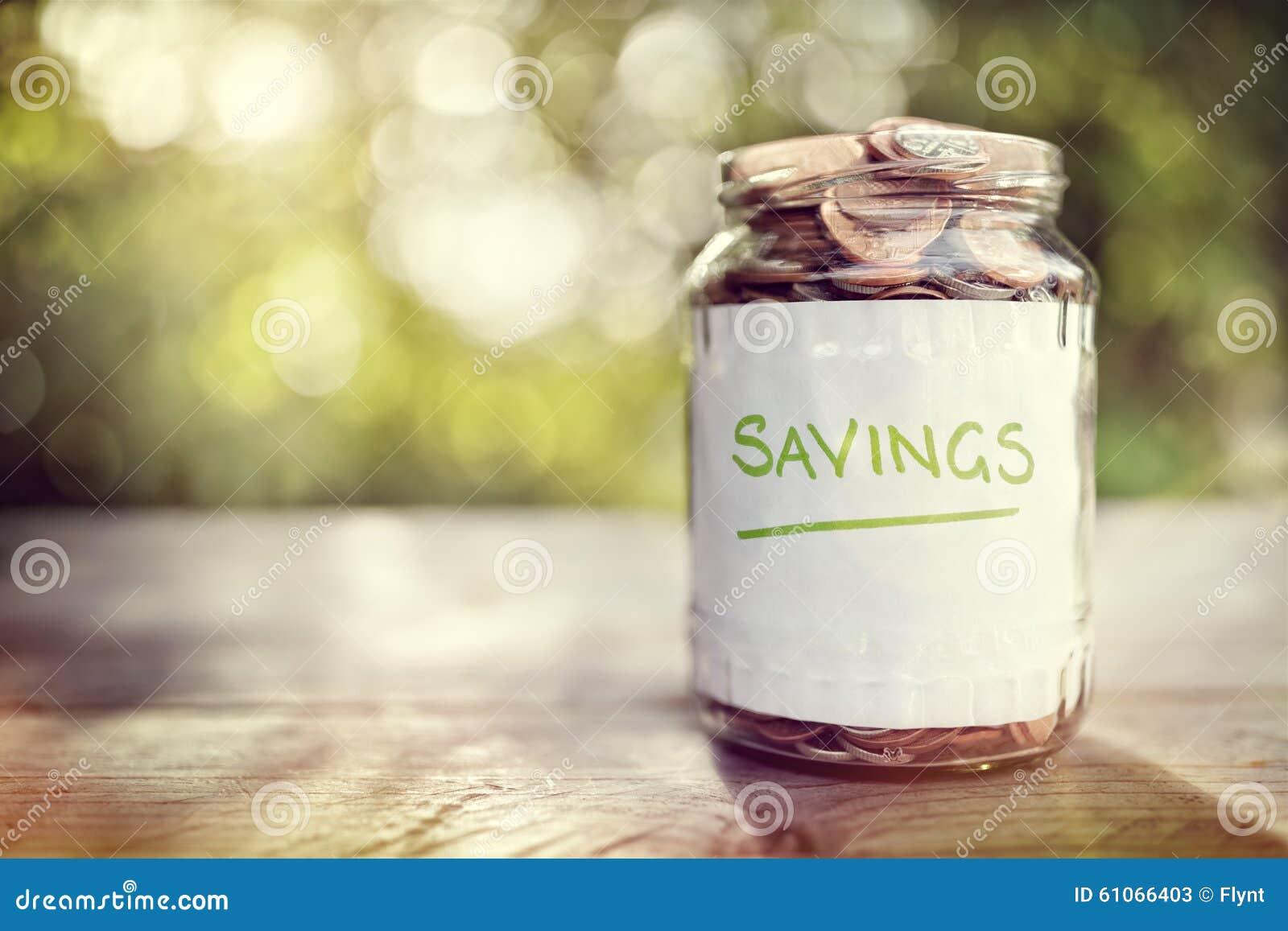 Barattolo dei soldi di risparmio