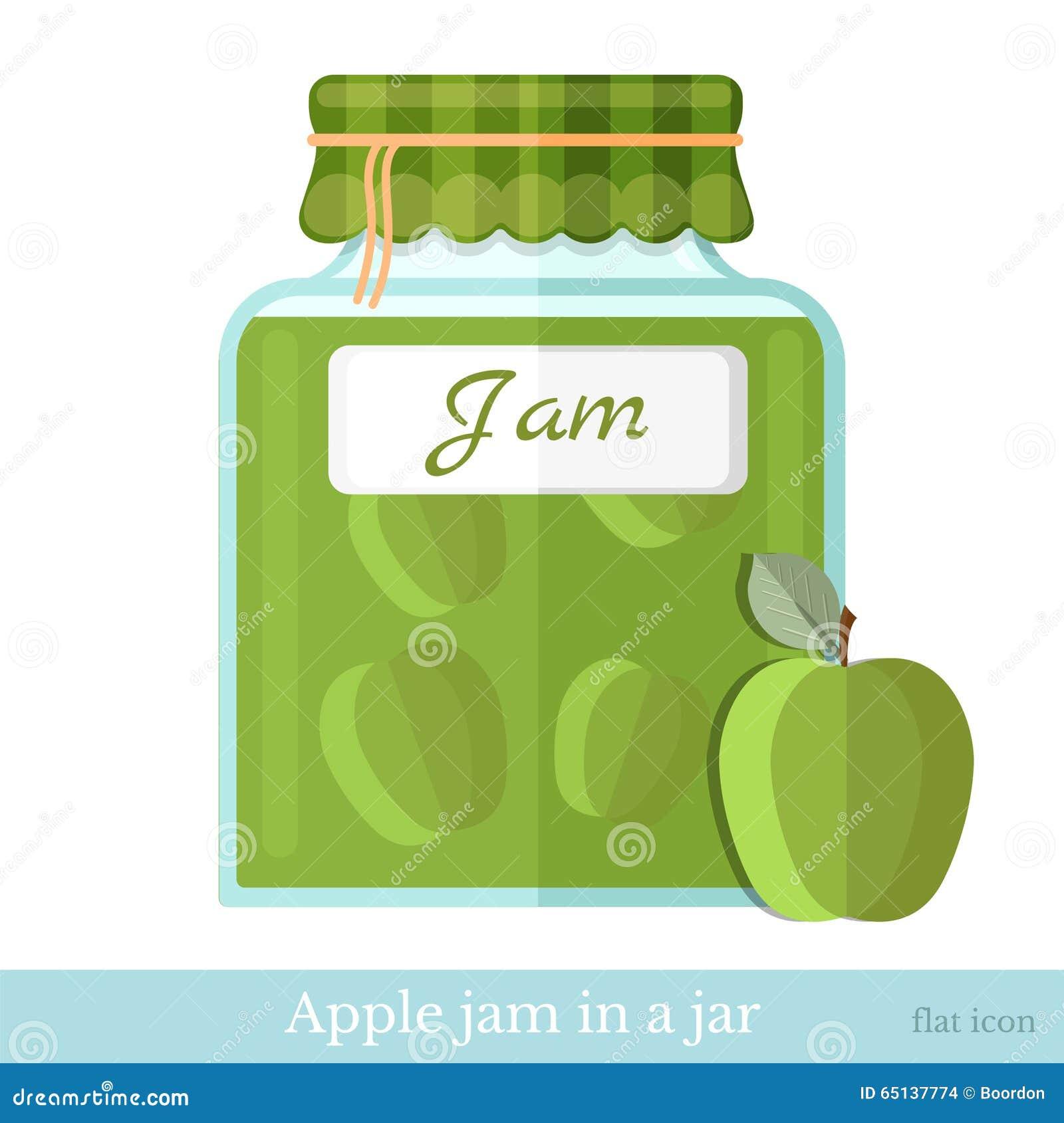 Barattolo di vetro dell icona piana dell inceppamento della mela