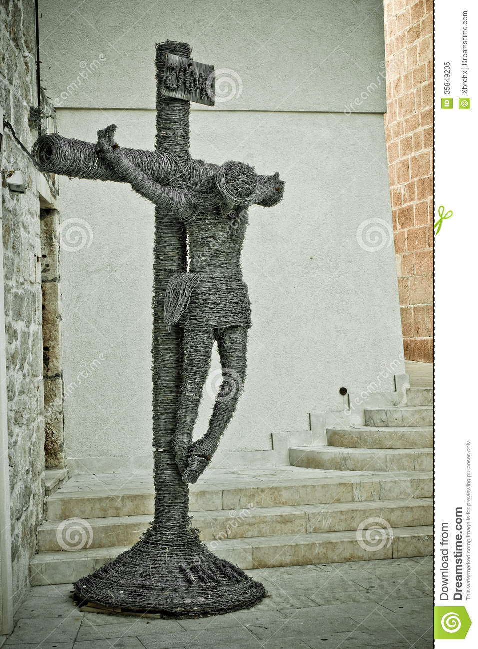 Barb Wire Jesus Christ Crucifixion Stock Image - Image of church ...