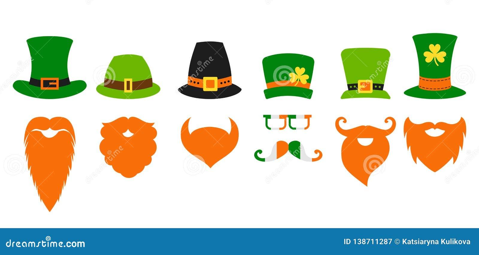 Barba do chapéu do duende do dia de Patricks de Saint do St