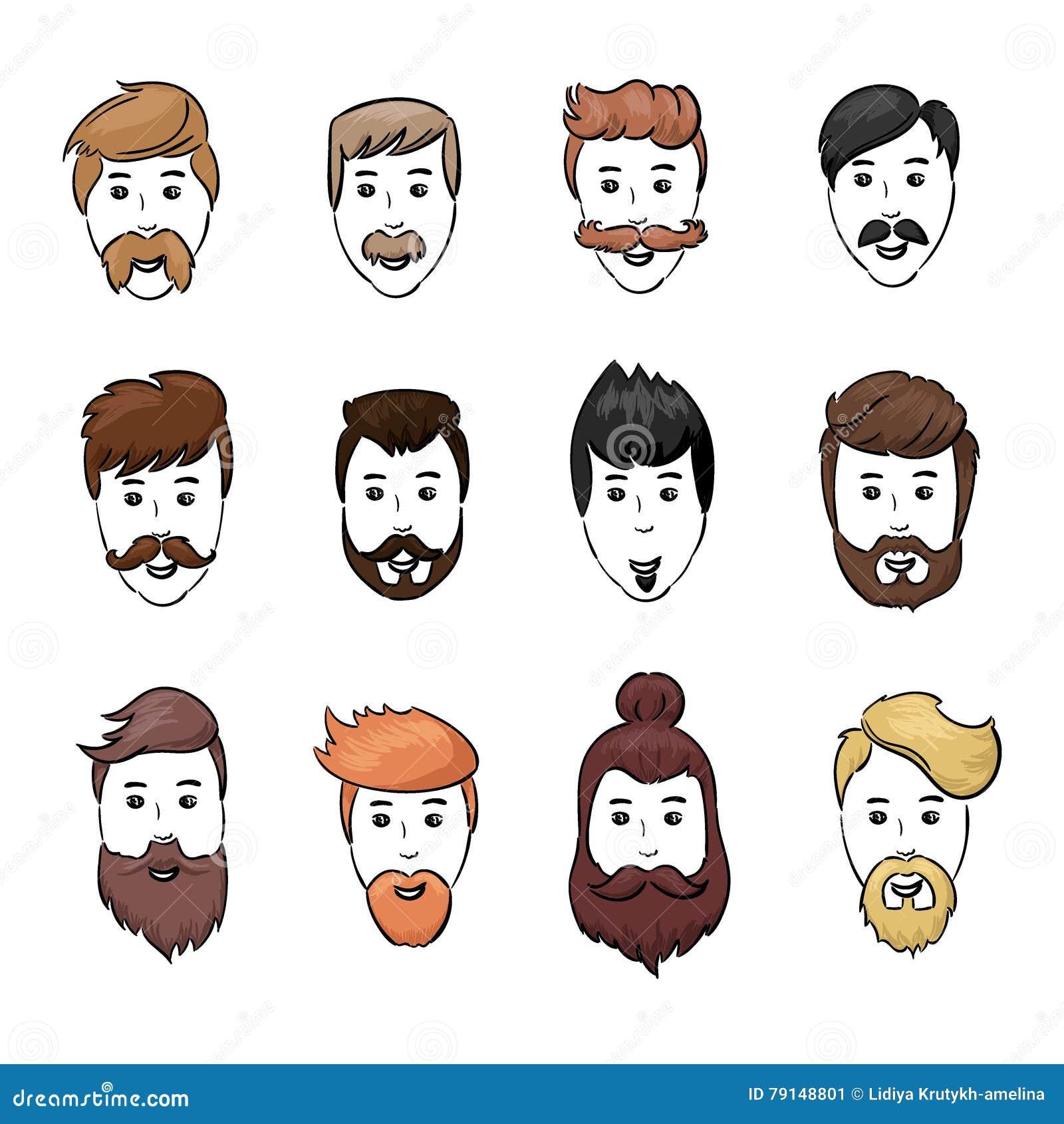 A Barba Dos Penteados E A Cara Do Cabelo Cortaram A Colecao Dos