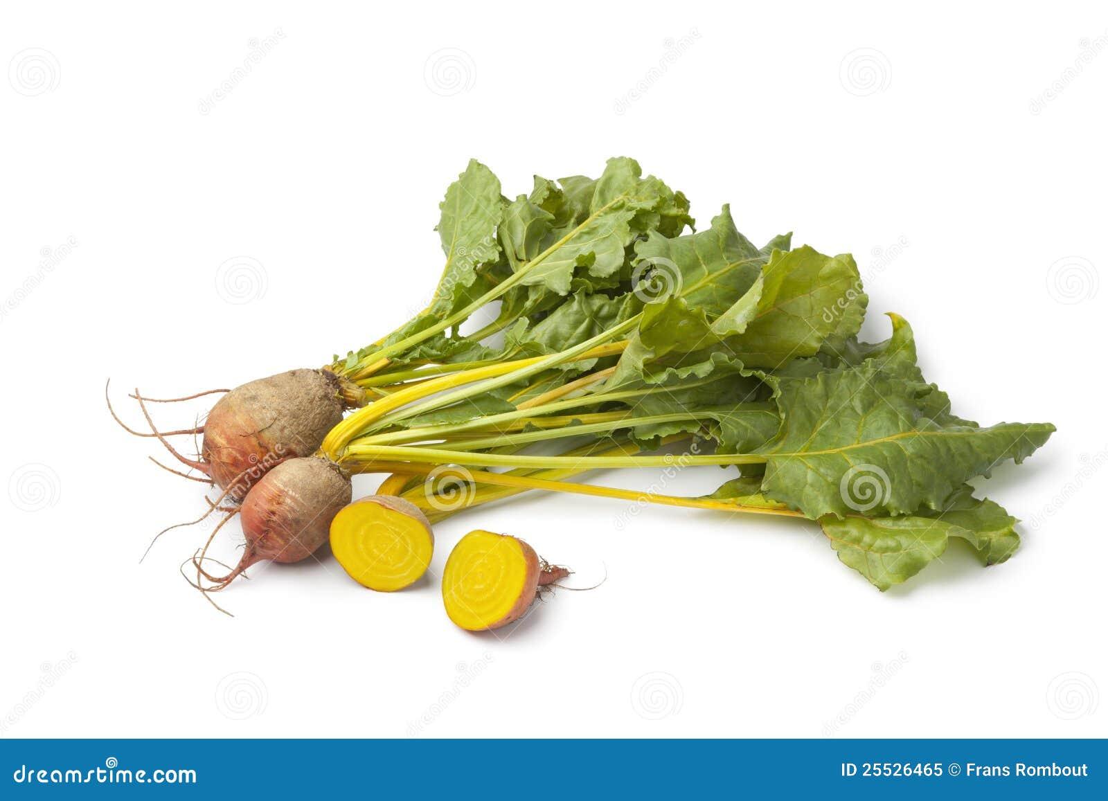 Barbabietole gialle grezze fresche