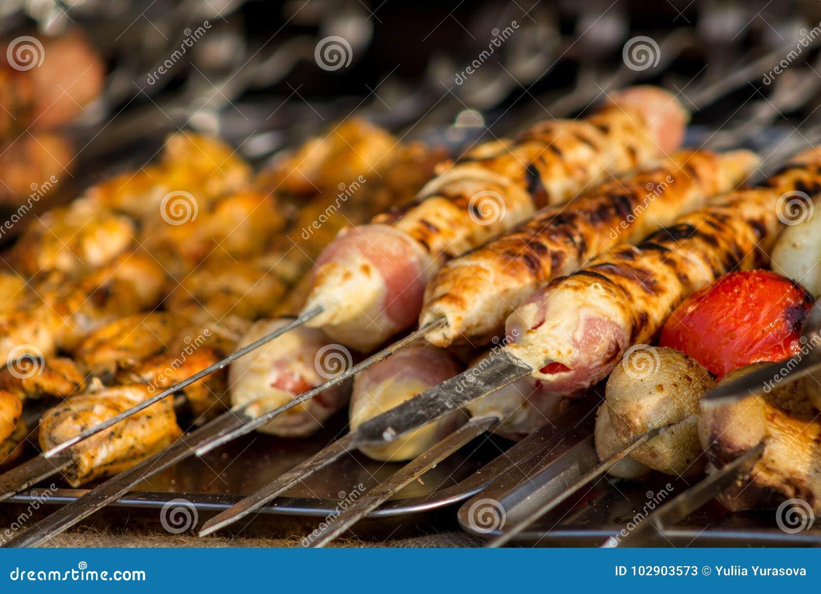Barbacoa del apetito de la carne