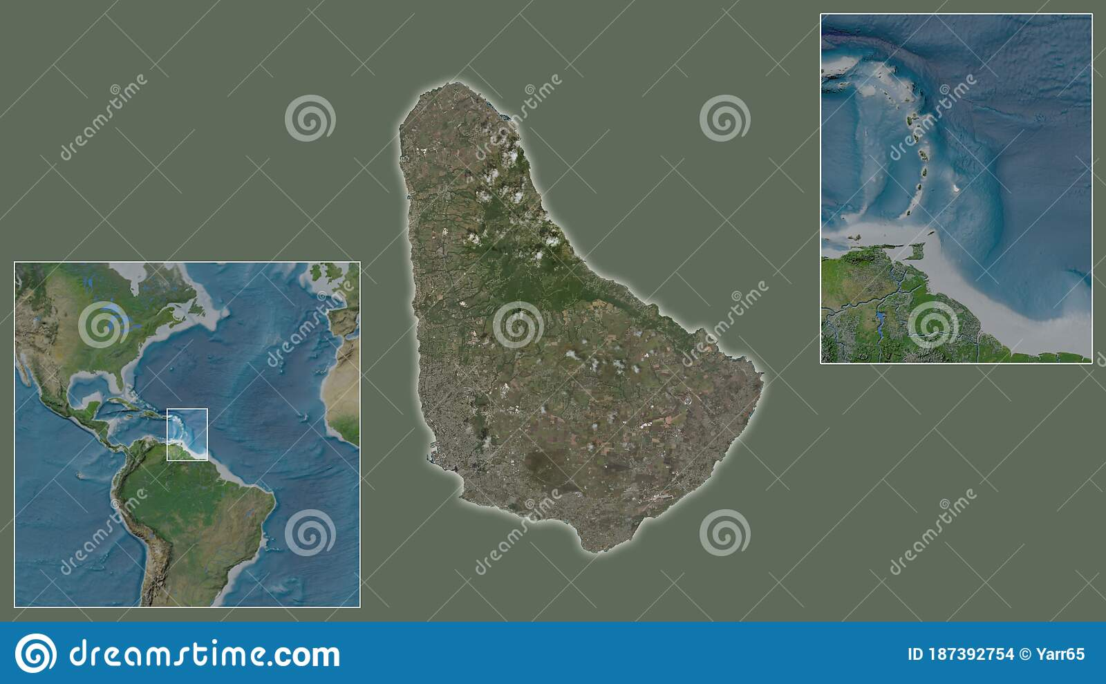Picture of: Barbados Satellite Country And Its Location Stock Illustration Illustration Of Stereographic Extracted 187392754