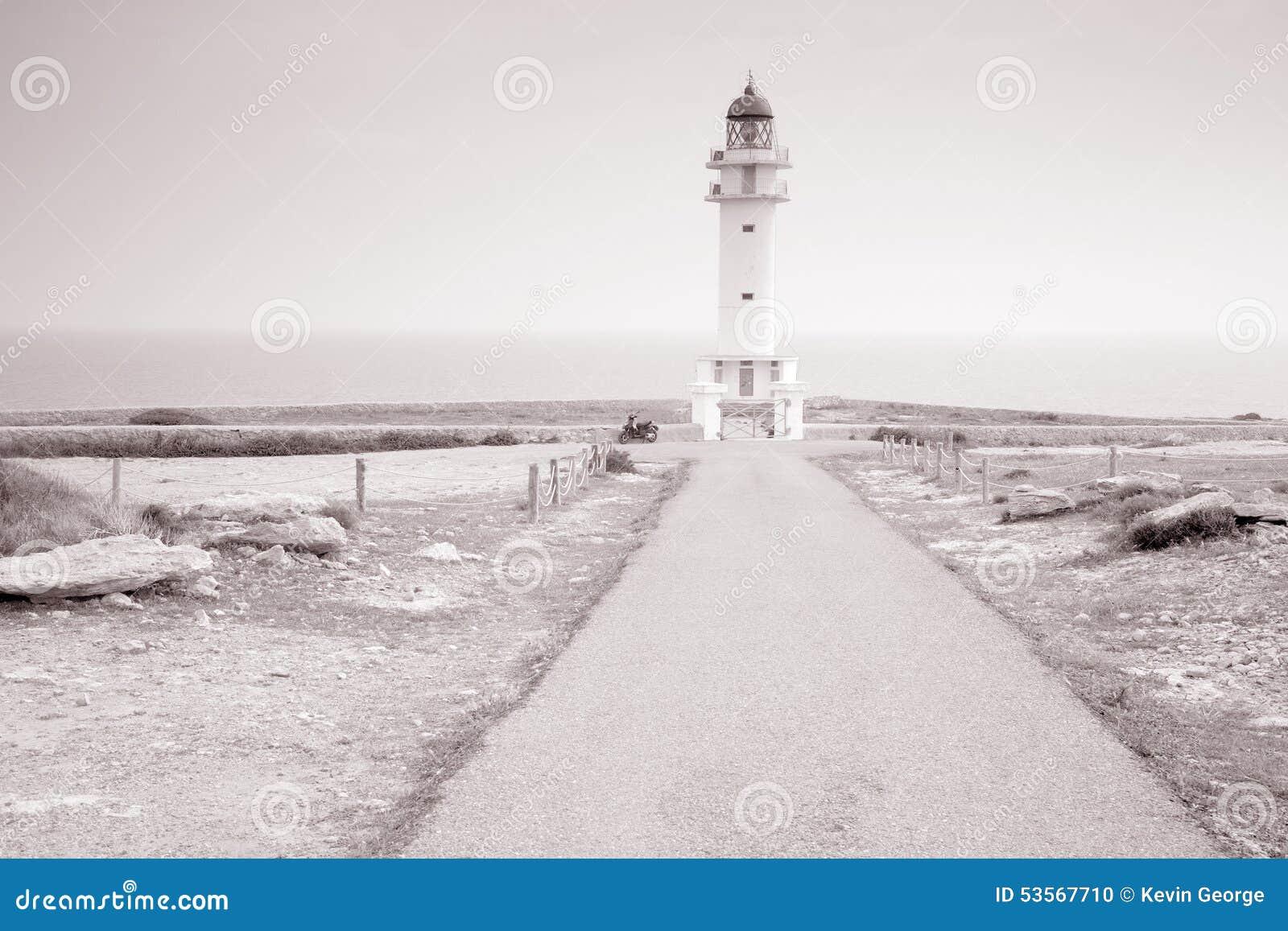 Barbaria Cape Lighthouse; Formentera; Balearic Islands; Spain