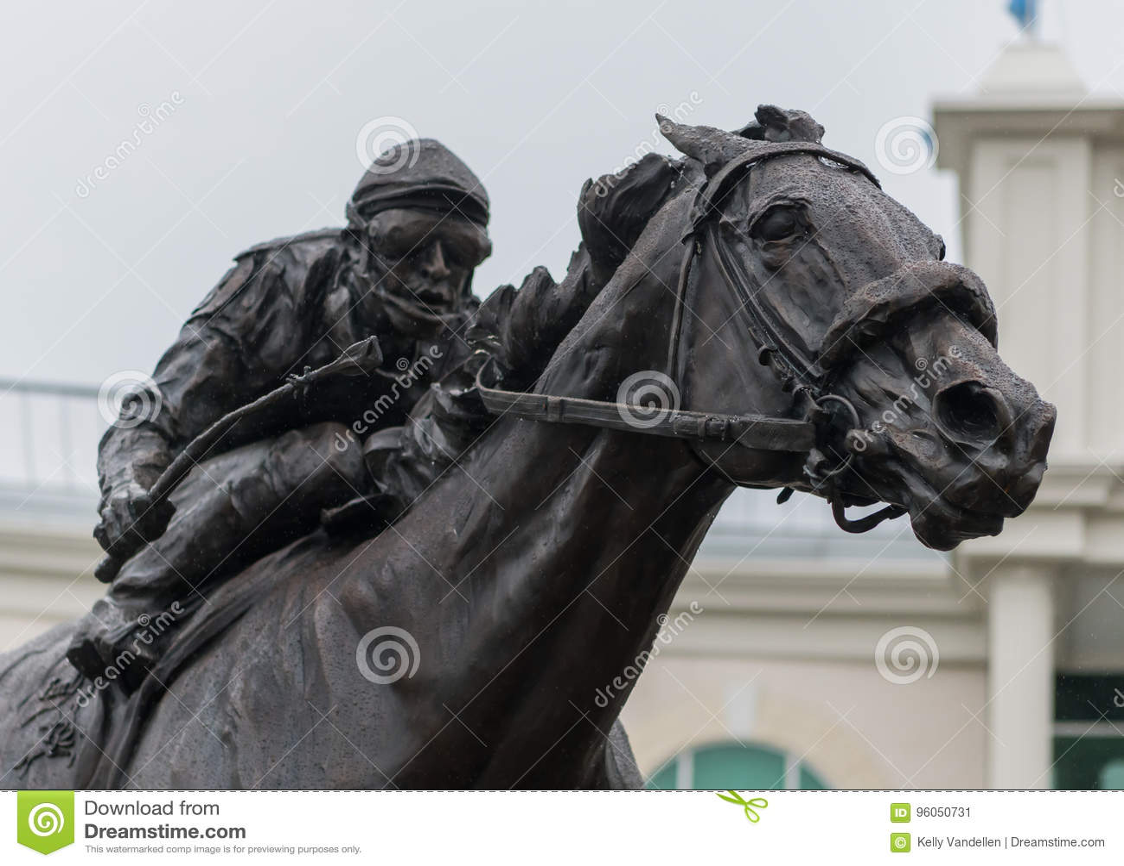 Barbaro Statue et jockey Close Up