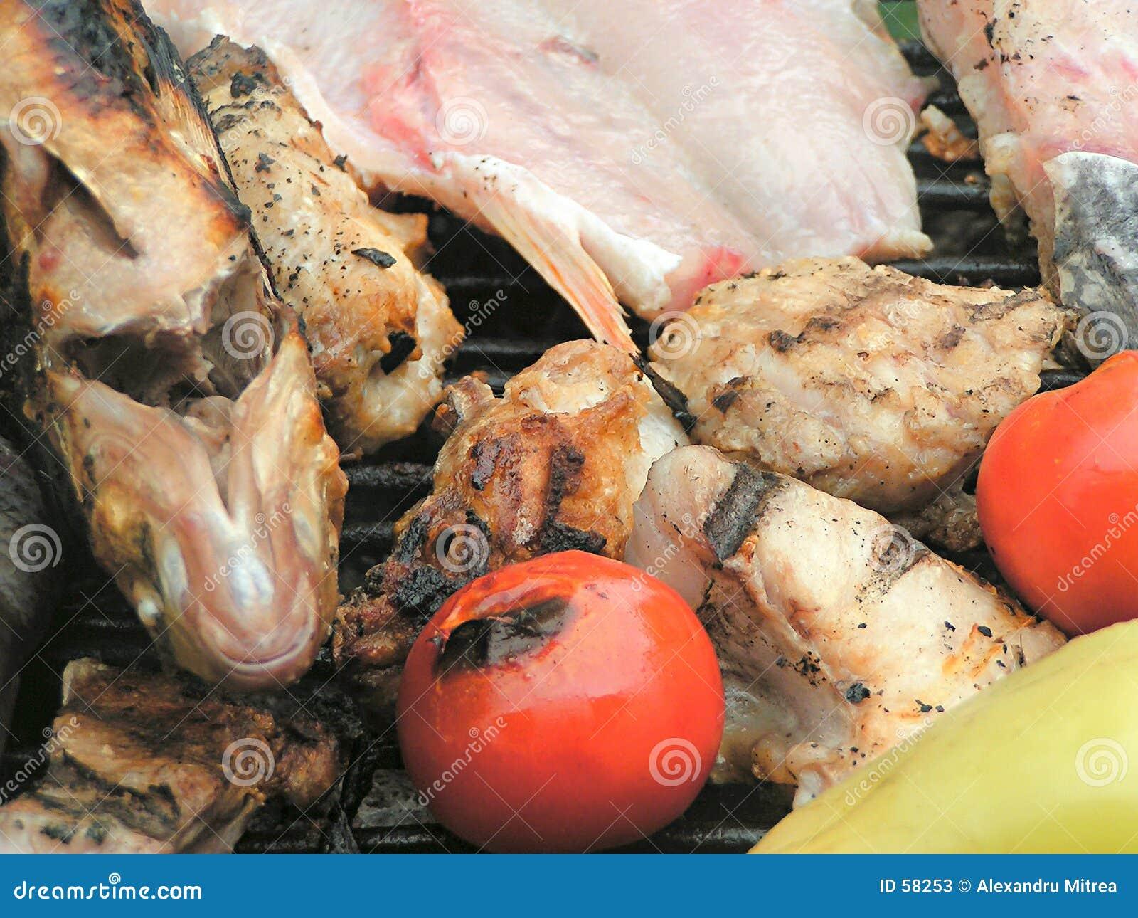 Download Barbecue image stock. Image du nourriture, mangez, viande - 58253