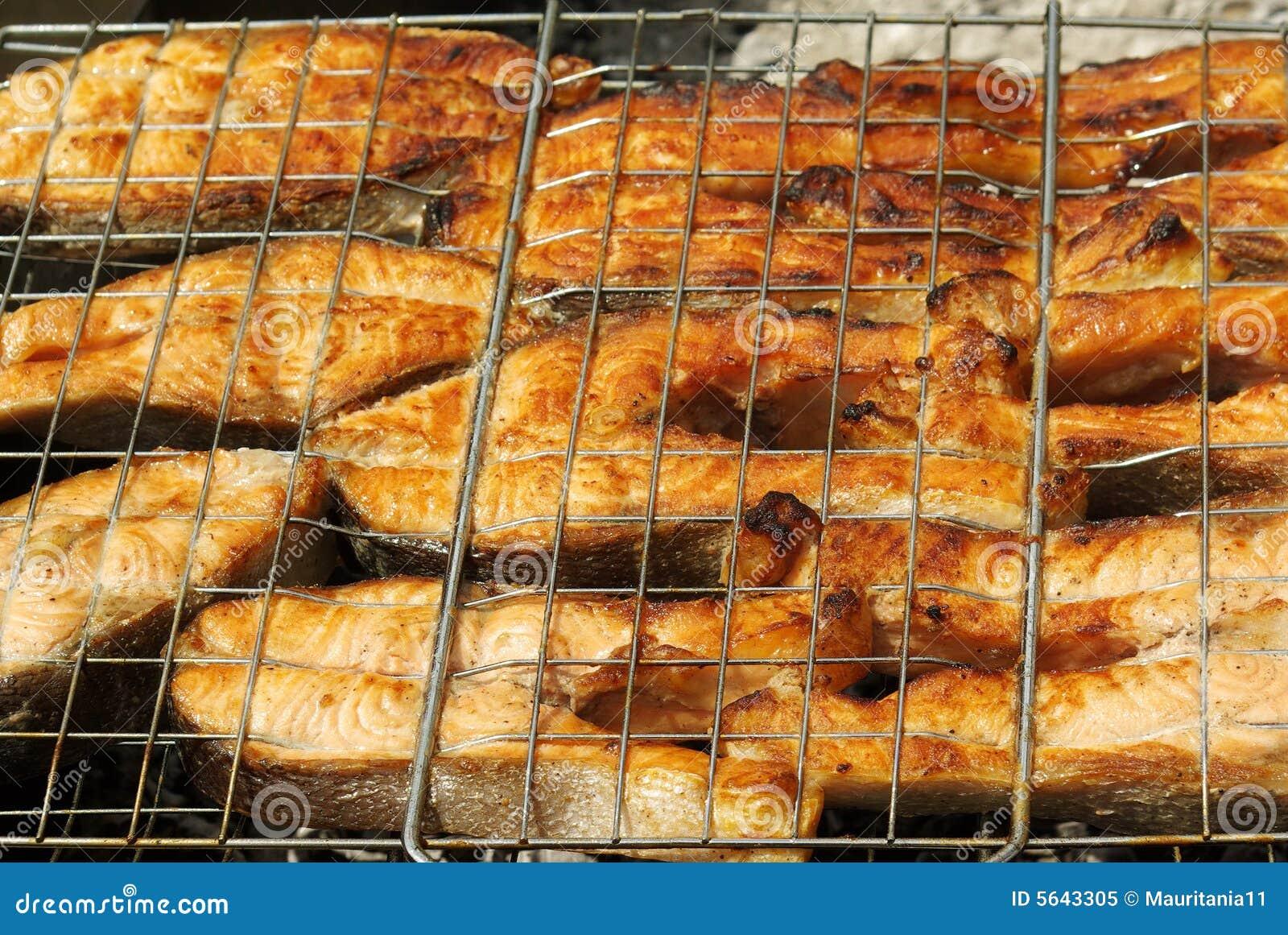 Barbecue app tissant d 39 un poisson rouge photo libre de for Achat d un poisson rouge
