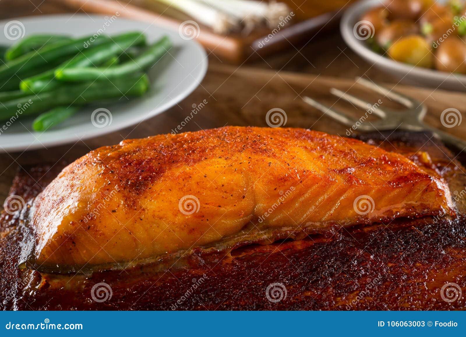 Barbecue Cedar Plank Salmon