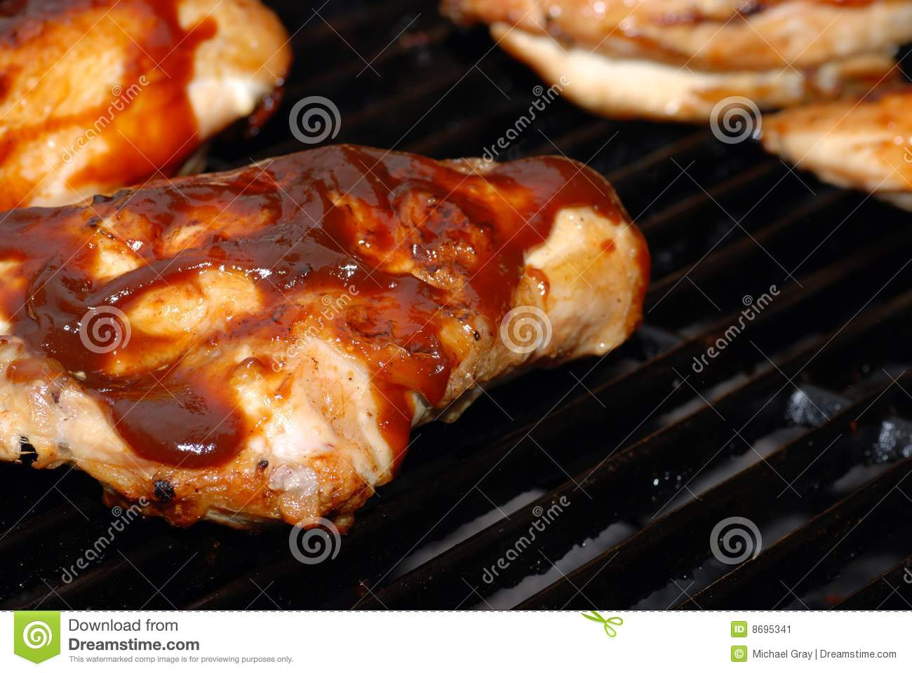 Barbecue Chicken Breast On A Grill Stock Image - Image ...