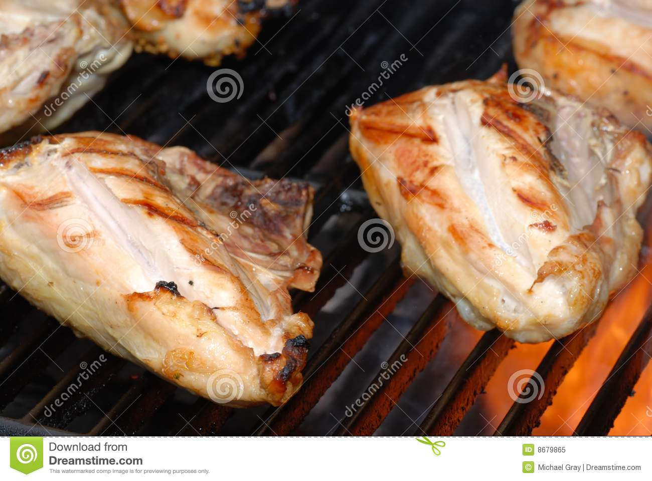 Barbecue Chicken On A Grill Stock Image - Image: 8679865